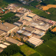 Aerial picture of factory — Stock Photo