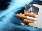 Lung and cigarettes — Stock Photo