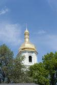 La cupola dorata della Cattedrale di Santa Sofia — Foto Stock