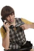 Phone terrorist — Stock Photo