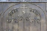 Monastery of metal gate — Stock Photo
