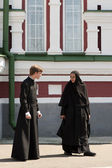 Monja y monje ortodoxo — Foto de Stock