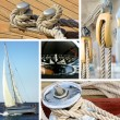 Yacht collage. Sailboat. Yachting concept — Stock Photo