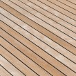 Stock Photo: Teak deck