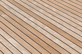 Teak deck — Stock Photo