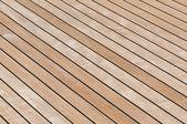 Teak deck — Stock Photo