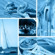 Boat and yacht collage — Stock Photo