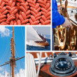 Boat and yacht collection — Stock Photo