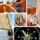 Sailboat and yacht collage — Stock Photo