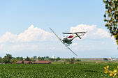 Crop Duster Making a Turn — Stock Photo