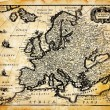 Seventeenth Century art Engraving Map of Europe - Stock Photo