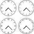 Wall clock. Vector illustration. — Vector de stock  #11835692