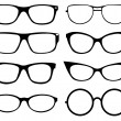 Set of eyeglasses — Stock Vector