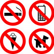 Stock Vector: Not allowed signs