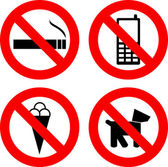 Not allowed signs — Stock Vector