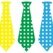 Tie set, vector illustration — Vector de stock #12105510
