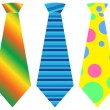 Tie set, vector illustration - Stock Vector