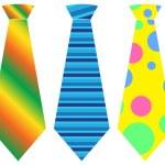 Tie set, vector illustration — Stock Vector