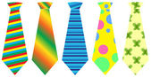 Tie set, vector illustration — Stock Vector