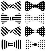 Set of black vector bow ties — Stockvektor