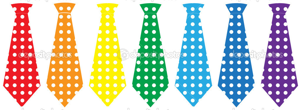 Tie set over white background, vector illustration — Stock Vector #12105510