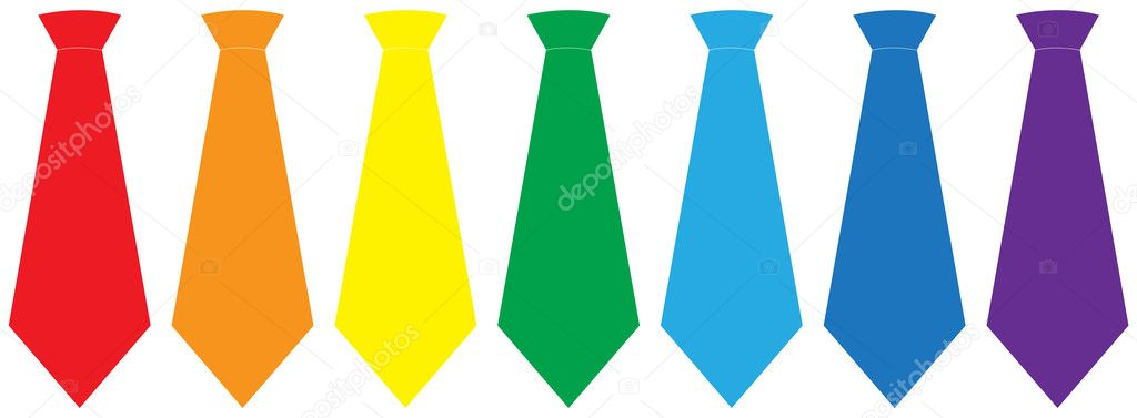 Tie set over white background, vector illustration — Stock Vector #12105524