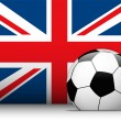 United Kingdom Soccer Ball with Flag Background — Stock Vector #10803716