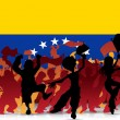 Venezuela Sport Fan Crowd with Flag - 