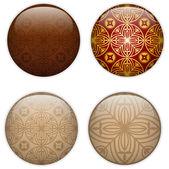 Glas cirkel-knappen baskiska texturer — Stockvektor