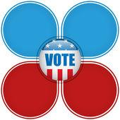 Usa wahl vote button klicken. — Stockvektor
