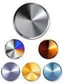 Metal Buttons. Silver, Gold, Copper — Vector de stock