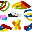 Set of colorful wristbands - Stock Vector