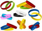 Serie di braccialetti colorati — Vettoriale Stock