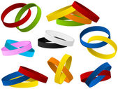 Set of colorful wristbands — Vetor de Stock