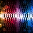 Colorful Rainbow Neon Party Background — Imagen vectorial