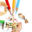 Pencils and sharpener — Stock Photo #11428751