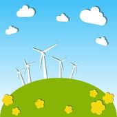 Mulini a vento — Vettoriale Stock