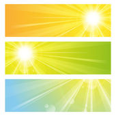 Sluneční světlo — Stock vektor