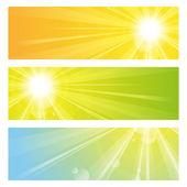 Luz del sol — Vector de stock