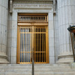 Stock Photo: Mormon Neoclassical Building Entrance