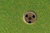 Closeup of Golf Cup or Hole — Stock Photo