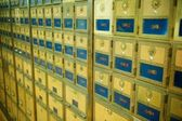 Old Fashioned Post Office Boxes — Stock Photo