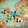 Royalty-Free Stock Photo: Travel Map with Push Pins-Paris