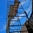 Scaffolding Against Blue Sky — Stock Photo #12350898