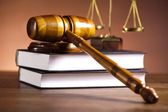 Law and justice concept, wooden gavel — Foto Stock