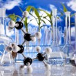 Laboratory  on blue sky background — Foto de Stock