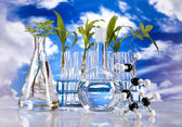 Laboratory on blue sky background — Stock Photo