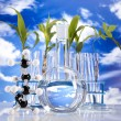 Laboratory  on blue sky background - Stockfoto