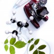 Experimenting with flora in laboratory - Stockfoto