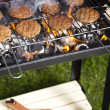 Steak, Grilling at summer weekend — 图库照片